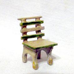 Antique Vintage Miniature Childs Wood Chair by RetroVintageBazaar, $6.00