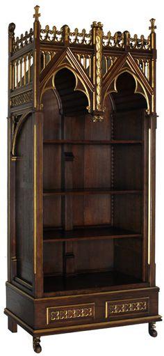 Goth:  #Gothic Bookcase.