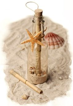 Message in a bottle invitations! Super cute, different, and creative!