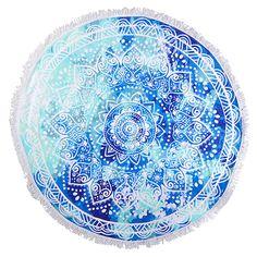Kaiami Lotus Mandala Round Towel