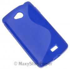 SSYL CUSTODIA DEDICATA TPU SILICONE BACK COVER CASE LG F60 BLU BLUE - SU WWW.MAXYSHOPPOWER.COM