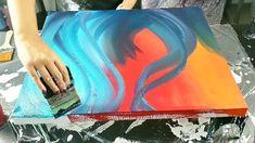 Fluid art video and tutorials Acrylic Pouring Art, Acrylic Art, Acrylic Painting Canvas, Pour Painting, Diy Painting, Diy Canvas Art, Geek News, Funny Vines, Ballon