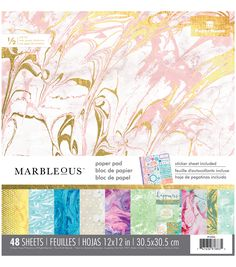 Paper House® Marbelous Pack of 48 12''x12'' Paper Pad