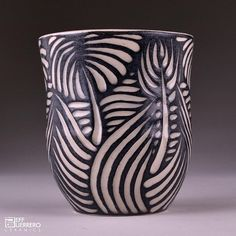 Sgraffito Cup by guerrero.ceramics, via Flickr