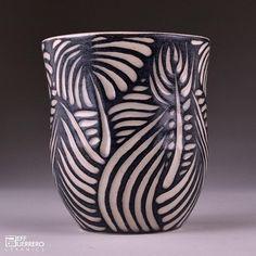 Sgraffito Cup by guerrero.ceramics, via Flickr
