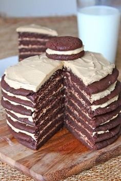 Chocolate peanut butter cookie layer cake
