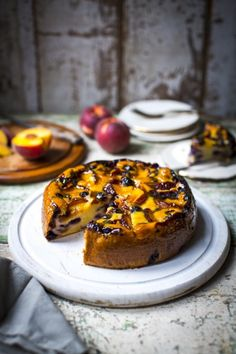Peach & Blueberry Pound Cake