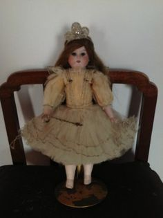 "German Marseille 13"" Antique christmas vintage fairy doll ALL ORIGINAL 