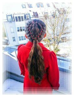Heart braid ponytail