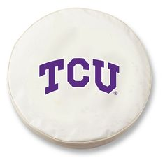 TCU Horned Frogs HBS White Vinyl Fitted Spare Car Tire Cover
