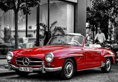 Beautiful red Mercedes Benz #190SL. Pic via instagram (garajturk) / #BruceAdams190SL #190SLRestorations