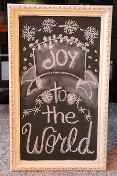 Priscillas: Christmas Chalkboards and The Pioneer Woman