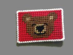 Teddy Bear Gift Card Holder Plastic Canvas by ShanaysCreation
