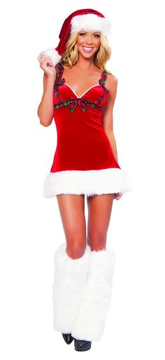 7ff33abe231df New Sexy Adult Halterneck Cute Christmas Costumes Women Santa Miss Cosplay Sexy  Santa Claus Costumes For Christmas Party