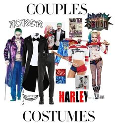"""Joker and Harley Quins Couple Costume"" by azharkhadafialr on Polyvore featuring DC Comics, Alyx, Lanvin, Quin and jared"