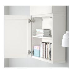 BESTÅ Wall cabinet with 2 doors - Hanviken white - IKEA