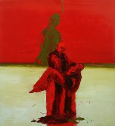 Battle Blood, Oil on canvas, 183 x Sad Art, Unusual Art, Famous Art, Fine Art Gallery, Art Studios, Figurative Art, Artist At Work, Aesthetic Pictures, Art Inspo