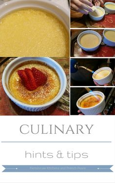 Farmhouse Kitchens and French Pears Creme Brulee