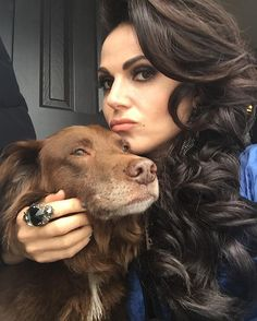 Lana Parrilla and her dog, Lola. Oct 19, 2016