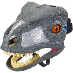 Get ready to welcome fan favorite, Velociraptor Blue – from Jurassic World, to your home with Chomp 'N Roar Mask by Mattel . Great for hours of role-playing and story telling. for more prehistoric play Toys R Us, Lego Marvel, Marvel Avengers, New Jurassic World, Lego Jurassic, Dino Costume, Dinosaur Mask, Dinosaur Toys, Blue Mask