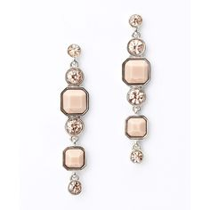 Ann Taylor Resin And Crystal Linear Earrings ($38) ❤ liked on Polyvore