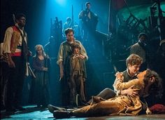 Les Miserables Broadway The soft focused light spotlighting the main people of…