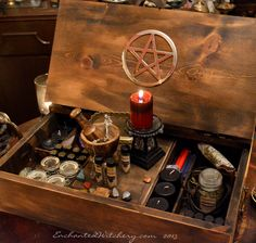 Witches Spell Box - The Witches secret chamber Spell Trunk - Witchcraft Supplies for Spells & Rituals from EnchantedWitchery.com