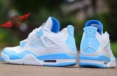 "Nike Air Jordan 4 ""Legend Blue"" Customs"