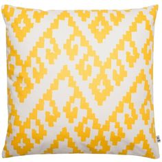 bococo Zamboanga Large Printed Cushion (210 BRL) ❤ liked on Polyvore featuring home, home decor, throw pillows, pillows, yellow, yellow home decor, yellow toss pillows, traditional home decor, yellow home accessories and yellow accent pillows