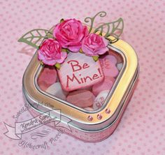 Luv 2 Scrap n' Make Cards: Pink, White & One Other Color with Sweetstamps.com, Love Candy Tin, Gift