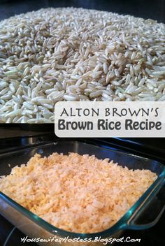 I'm always looking for new ideas and recipes to make healthier choices. So I asked my cousin about her favorite healthy recipes and she recommended this rice recipe from Alton Brown…