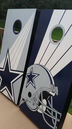 Dallas Cowboy Cornhole Board Set Including Bags 100% Hand Painted