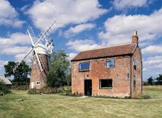 Cottage & Windmill, Hunsett Mill, Norfolk, England by Acme