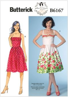 Misses Dress Butterick Sewing Pattern 6167