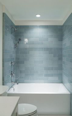 7 Baths Tiled In Beautiful Sea Glass Blue - Cocoweb - Quality LED Lighting Specialists Bathroom Design Small, Modern Bathroom, Master Bathroom, Bath Design, Modern Shower, Bathroom Designs, Small Bathroom Bathtub, Antique Bathtub, Bathtubs For Small Bathrooms