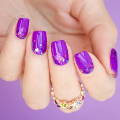 Mani Monday - #FaceMyDay Purple Nails