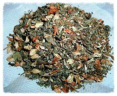 Herbs:  Moontime Tea  for easing menstruation. Ingredients: motherwort, cramp bark, jasmine flowers, raspberry leaf, lady's mantle.