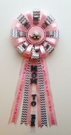 Child Elephant Theme Grey Chevron and Pink Mother to by LezlieZDesigns, $24.00...