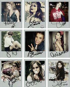 Justin Bieber Miley Cyrus Selena Gomez Ariana Grande Demi Lovato Taylor Swift