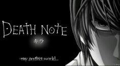 Death note perfect world Death Note Light, Light Yagami, Rich Man, Perfect World, Images, Notes, Anime, Manga, Music