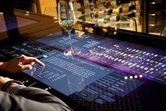 Learn about your wine on our interactive touchable menu!