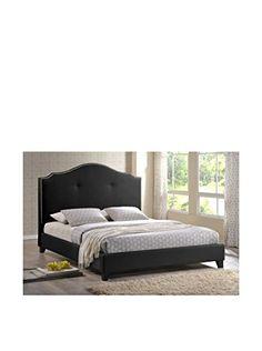 Baxton Studio Carlotta Modern Bed Upholstered Headboard Black F0r My R00m Pinterest And Bedrooms