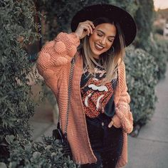 Lantern Sleeves Loose Knitted Sweater Cardigan NOW OFF! Automatic discount at checkout. - Lantern Sleeves Loose Knitted Sweater Cardigan NOW OFF! Automatic discount at checkout. Casual Winter Outfits, Trendy Outfits, Fall Outfits, Cute Outfits, Fashion Outfits, Womens Fashion, Beautiful Outfits, Mode Hippie, Mode Boho