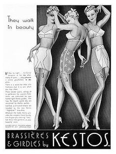 Kestos Bra Advertisement from the 1930s