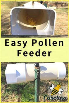 DIY plans for how to make a pollen feeder for bees. An easy and inexpensive PVC pollen feeder will last for years and make feeding bees pollen easier. Bee Feeder, Feeding Bees, Harvesting Honey, Bee Facts, Bee Hive Plans, Easy Chicken Coop, Beekeeping For Beginners, Raising Bees, Backyard Beekeeping