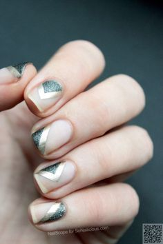 Unique and Creative Geometric Nail Designs For You. If you are looking for nail art designs and are still undecided then you are in the right place. We have put together unique ve beautiful geometric nail designs for you. Minimalist Nails, Love Nails, Pretty Nails, Nails Kylie Jenner, Negative Space Nails, Wedding Manicure, Geometric Nail Art, Geometric Patterns, Nail Patterns