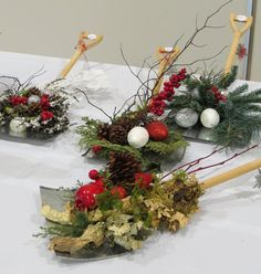 Mid Island Floral Art Club in Qualicum Beach B.C. Canada hosted a Christmas Gala 2014 with many items for sale that were made by club members.