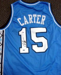 Vince Carter Autographed UNC North Carolina Jersey PSA/DNA . $149.00. This is an UNC jersey that has been hand signed by Vince Carter. The autograph has been certified authentic by PSA/DNA. It comes with their sticker and matching certificate.