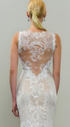 Mermaid wedding dress by Yumi Katsura  #weddingdress #lace