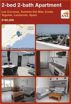 2-bed 2-bath Apartment in Las Coronas, Avenida Del Mar, Costa Teguise, Lanzarote, Spain ►€180,000 #PropertyForSaleInSpain